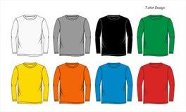 Longs calibres de blanc de chemise Photo libre de droits