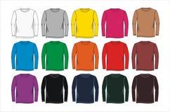 Longs calibres de blanc de chemise Image stock