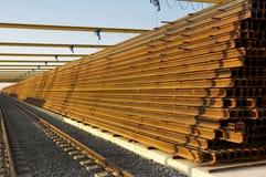 Chemin de fer en construction Photographie stock