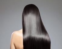 Longs cheveux droits images stock