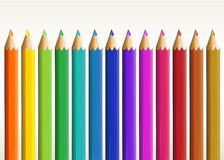 Longs crayons colorés Photos libres de droits