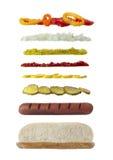 Longs ingrédients de sandwich image libre de droits