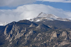 Longs maximumet, Rocky Mountain National Park Arkivfoton