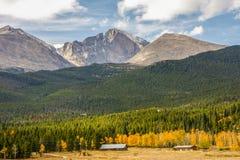 Longs o pico em Rocky Mountains Foto de Stock
