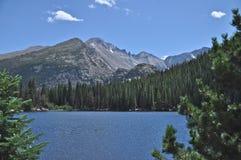 Longs Peak from Bear Lake Stock Photo