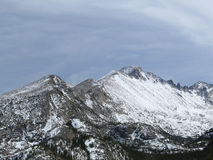 Longs Peak in Colorado on a cloudy day Stock Photography
