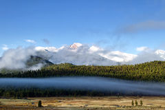Longs Peak on a foggy Day Stock Images