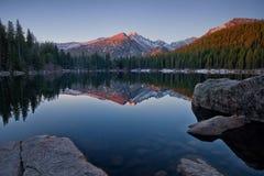 Free Longs Peak Reflection On Bear Lake Stock Photos - 72989633