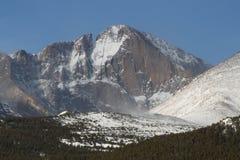 Longs Peak After Snowfall Stock Images