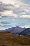 Longs Peak and Trail Ridge Road after a storm Stock Photo