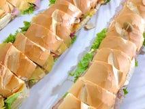 Longs sandwichs Photos stock