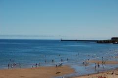 Longsands-Bucht tynemouth Stockbild