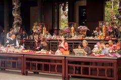 Longshan tempel fotografering för bildbyråer