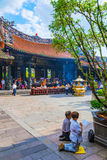 Longshan tempel Royaltyfri Bild