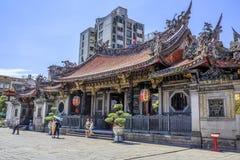 Longshan Tempel in Taipei stockbilder