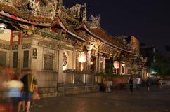 Longshan Temple en la noche Fotografía de archivo