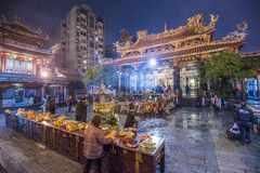 Longshan Temple Taipei Fotografia Stock Libera da Diritti