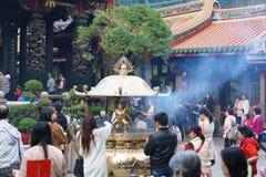 Longshan Temple Taipei, Taiwan Royalty Free Stock Photography