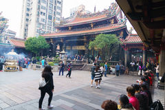 Longshan Temple Taipei, Taiwan Royalty Free Stock Photo