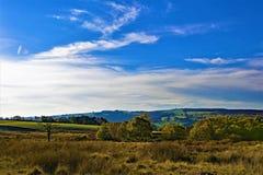 Longshaw moorland krajobraz blisko Grindleford, east midlands zdjęcie stock