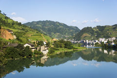 Longsheng Town, Guilin, China Stock Photo