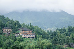Longshengprovincie van Guangxi-het terras Toneelgebied van provincie Chinees Longji Stock Foto's