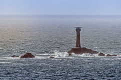 Longship�s Light, Wolf Rock Lighthouse Royalty Free Stock Images