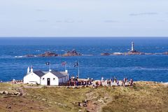 Longships Lighthouse Stock Images
