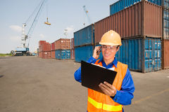 Longshoreman at work Stock Photography