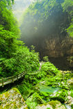 Longshuixia Fissure Gorge National Park in Wulong, China Stock Photography