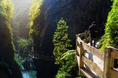 Longshuixia Fissure Gorge Stock Photo