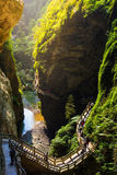 Longshuixia Fissure Gorge Royalty Free Stock Photos