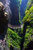Longshuixia Fissure Gorge Stock Photos