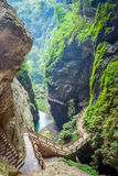 The Longshuixia Fissure Gorge, Wulong, China Royalty Free Stock Photos
