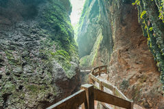 Longshuixia Fissure Gorge in Wulong-Chongqing China Royalty Free Stock Photos