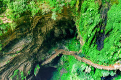 Longshuixia Fissure Gorge in Wulong country, Chongqing, China Royalty Free Stock Images