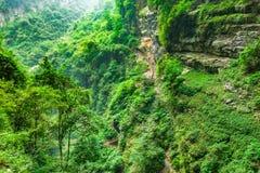 Longshuixia Fissure Gorge in Wulong country, Chongqing, China Royalty Free Stock Photos