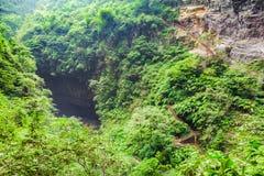 Longshuixia Fissure Gorge in Wulong country, Chongqing, China Stock Photography