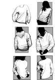 longsleeve μπλούζες πουκάμισων στοκ εικόνα