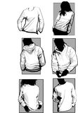 longsleeveskjortatröjor stock illustrationer