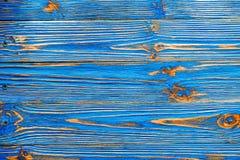 Longstanding träbakgrund för blå grunge arkivfoto