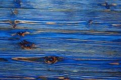 Longstanding träbräde för blå grunge fotografering för bildbyråer