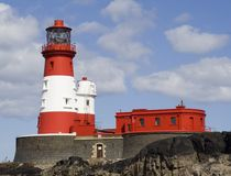 Longstone Lighthouse 2. Farne Islands, UK. Home to famous Northumbrian heroine Grace Darling in the 1800's Stock Photography