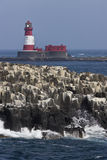 Longstone Lighthouse in the Farne Islands - UK Royalty Free Stock Image