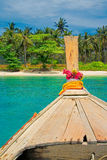 Longtail小船在Krabi,泰国 库存图片