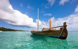 Longtail łódź na wodzie Zdjęcie Stock