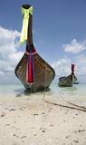 Longtail. Parked on the ko poda island in thailand stock images