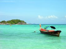 Longtail boat in Andaman sea. Lipe island, Thailand Royalty Free Stock Image