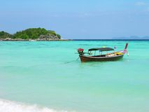 Longtail boat in Andaman sea Stock Images