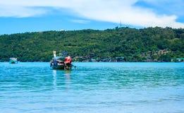 Longtail boat in andaman sea Phi Phi Islands Krabi Thailand. Royalty Free Stock Images